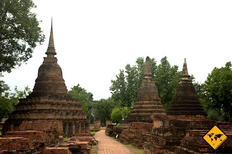 Geschichtspark Sukhothai in Thailand