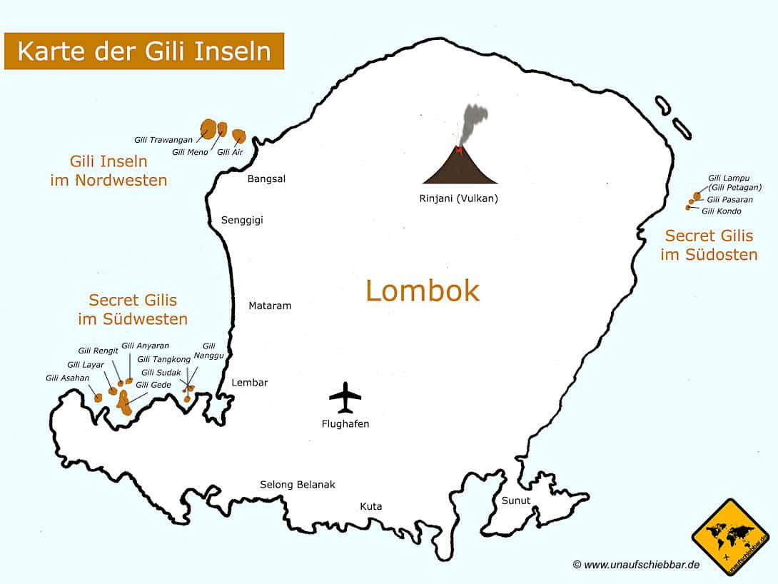 Gili Inseln Karte