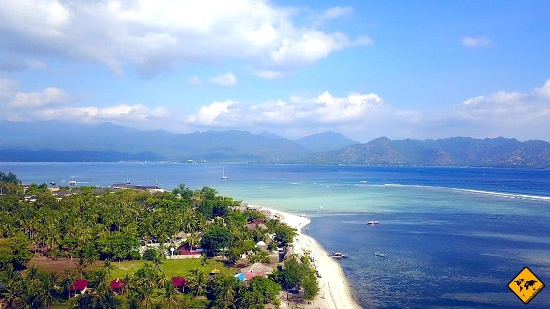 Gili Inseln Lombok Vogelperspektive
