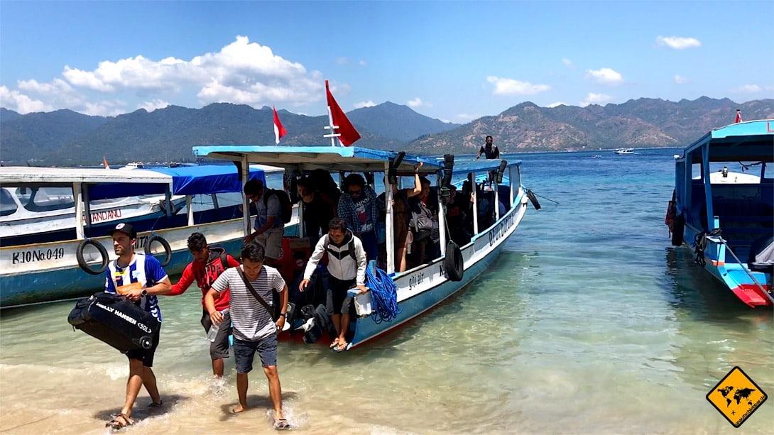 Gili Inseln Transfer: Mit dem Public Boat kommst du günstig von einer Gili Insel auf die nächste