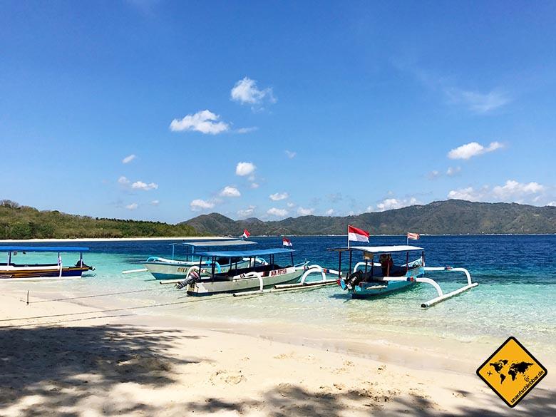 Gili Nanggu Ankunft Strand