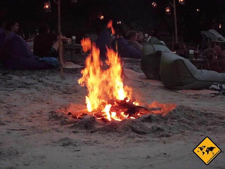 Gili Trawangan Lagerfeuer Beach Barbecue