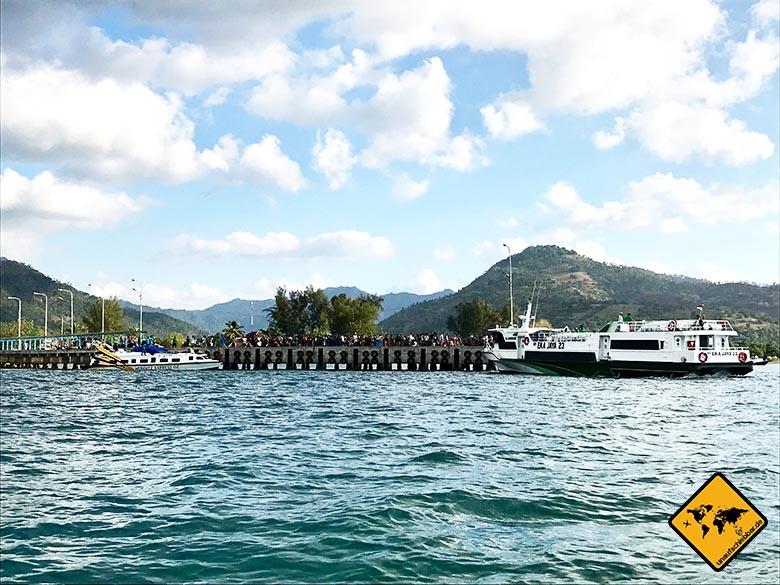 Gili Trawangan Lombok Hafen Bangsal