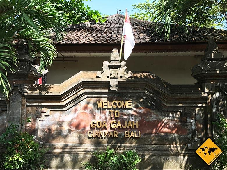 Goa Gajah Bali Eingang