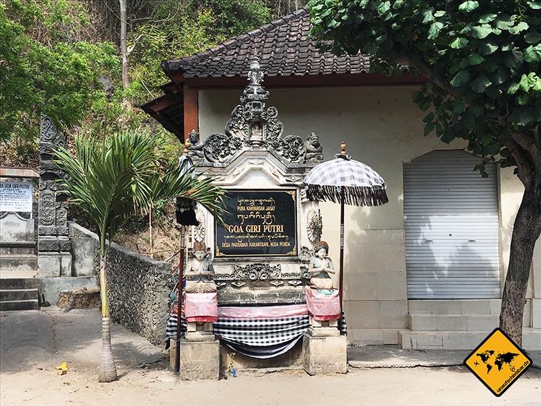 Goa Giri Putri Nusa Penida Ausgangsbereich
