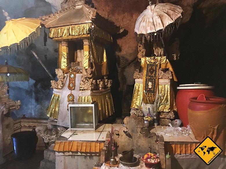 Goa Giri Putri Nusa Penida Höhle Einblicke