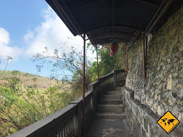 Goa Giri Putri Nusa Penida Höhle Treppen Ausgang