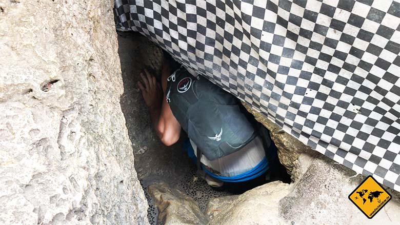 Goa Giri Putri Nusa Penida Höhleneingang