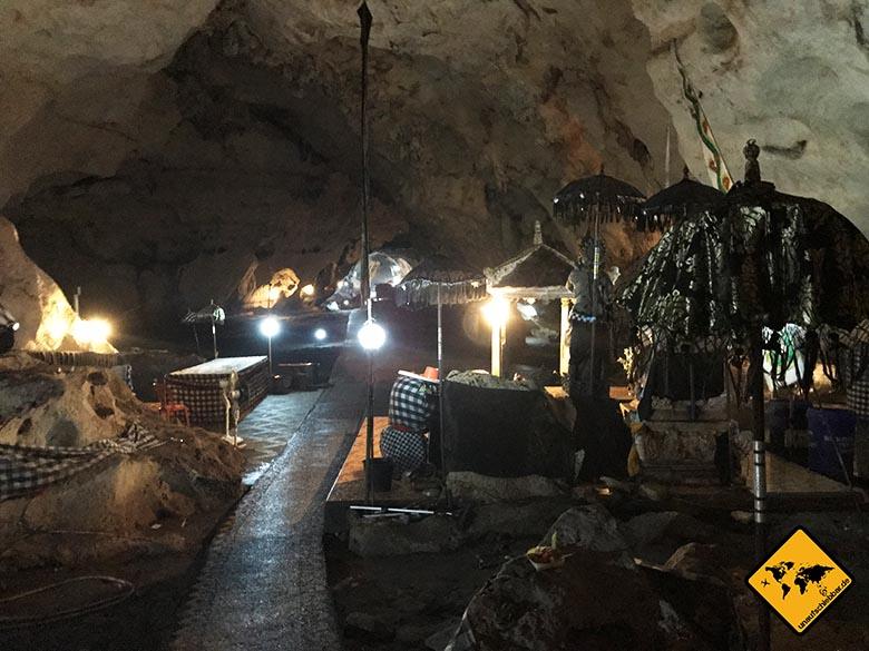 Goa Giri Putri Nusa Penida Tempel Eindrücke