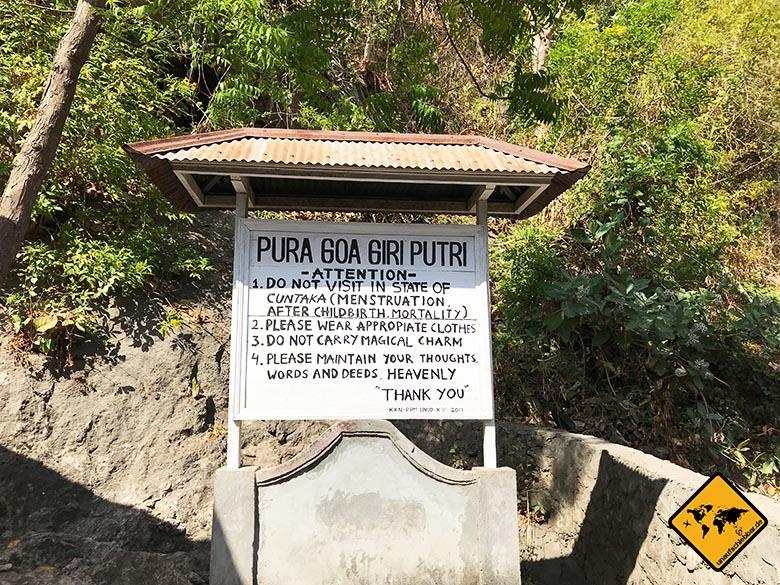 Goa Giri Putri Nusa Penida Zugangsvoraussetzungen