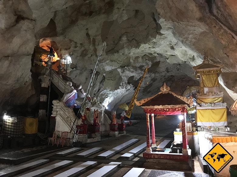 Goa Giri Putri Tempelhöhle Nusa Penida Bali