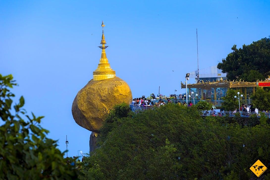 Golden Rock Kinpun Myanmar