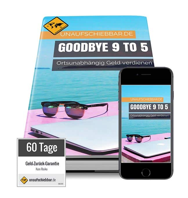 Goodbye 9 to 5 - ortsunabhängig Geld verdienen Cover iPad iPhone small 60 Tage