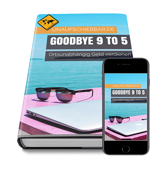 Goodbye 9 to 5 - ortsunabhängig Geld verdienen Cover iPad iPhone