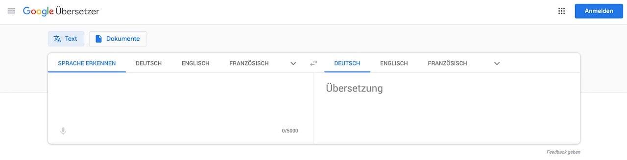Google Übersetzer remote work tools