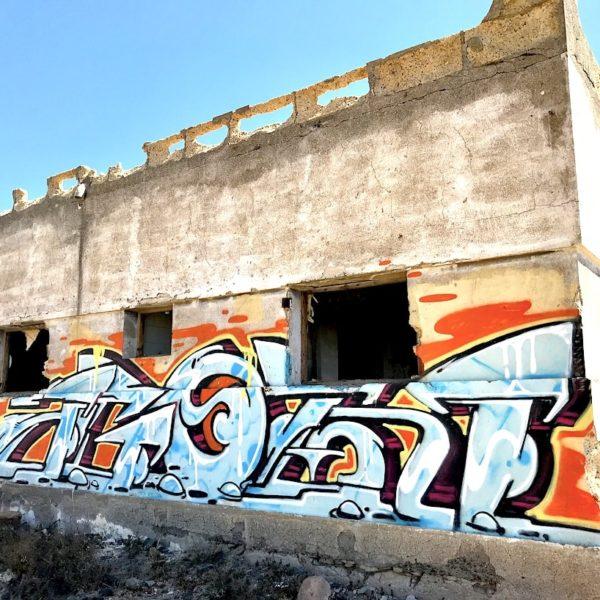 Graffiti Abades Teneriffa Geisterstadt