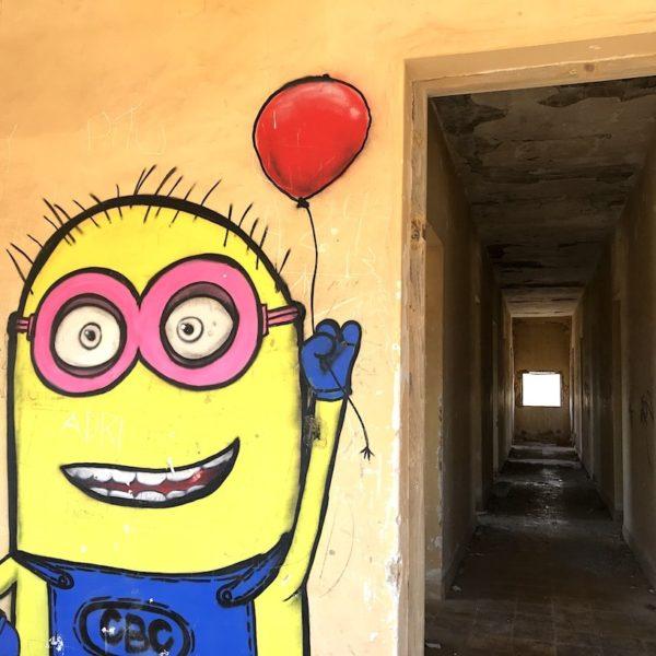 Graffiti Abades Teneriffa Geisterstadt Klinik