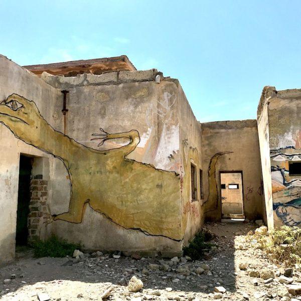 Graffiti Abades Teneriffa Ruinen