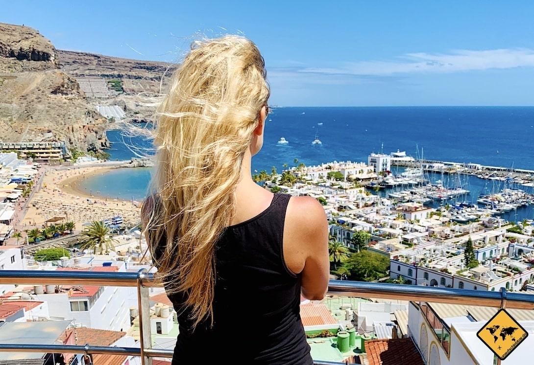 Gran Canaria Ausblick Puerto de Mogán Hafen