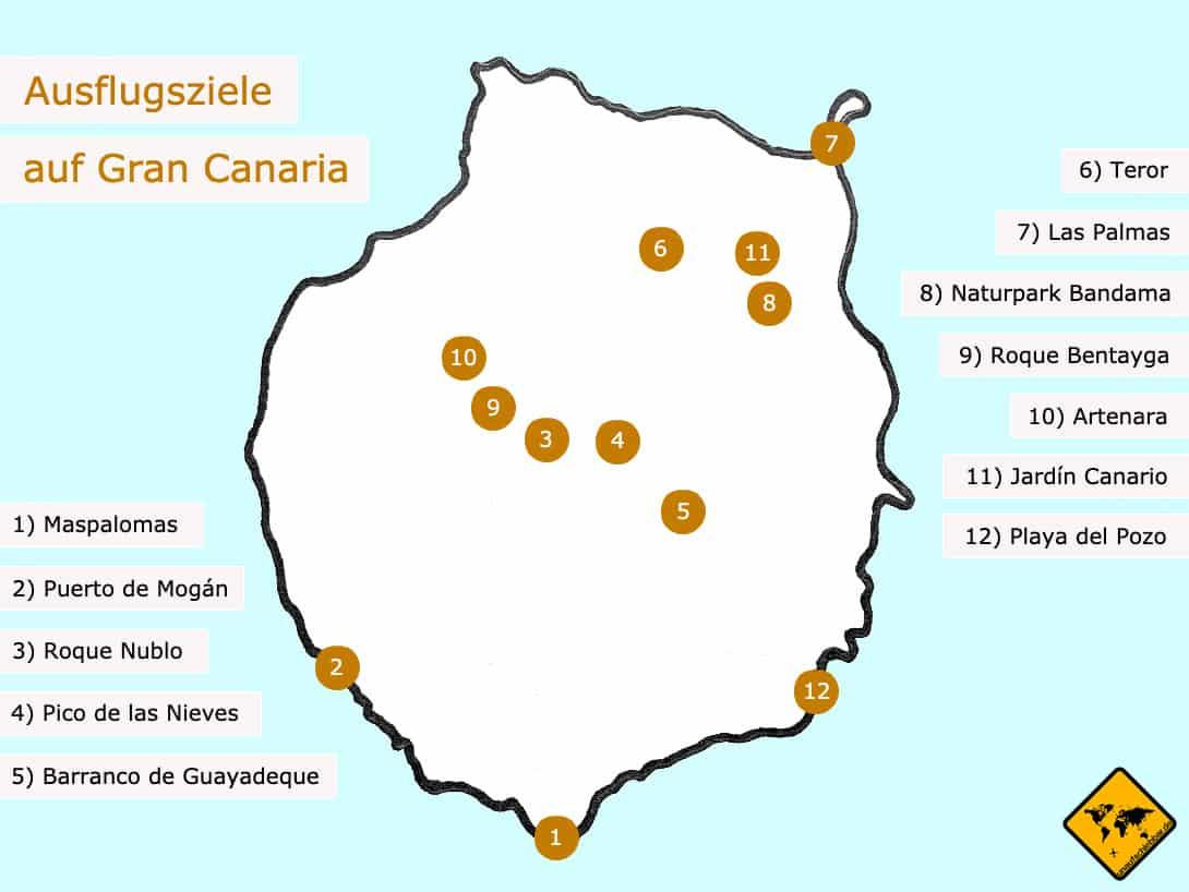 Gran Canaria Ausflüge Karte