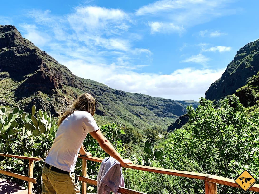 Gran Canaria Guayadeque Schlucht Ausblick