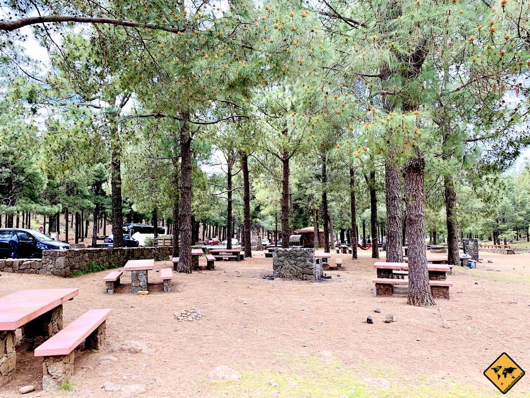 Gran Canaria Tejeda Picknick-Platz