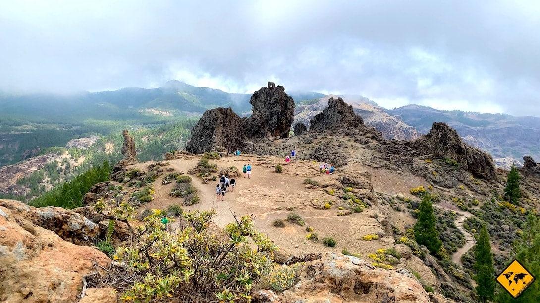 Gran Canaria Unternehmungen Roque Nublo Wanderweg