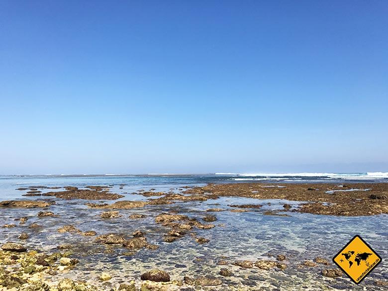 Green Bowl Beach Bali Wellen
