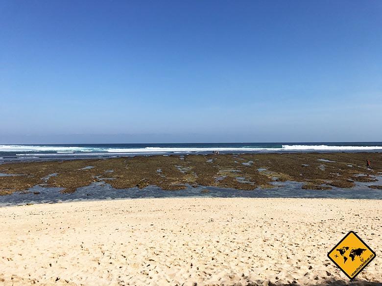 Green Bowl Beach Bali breiter Sandstrand