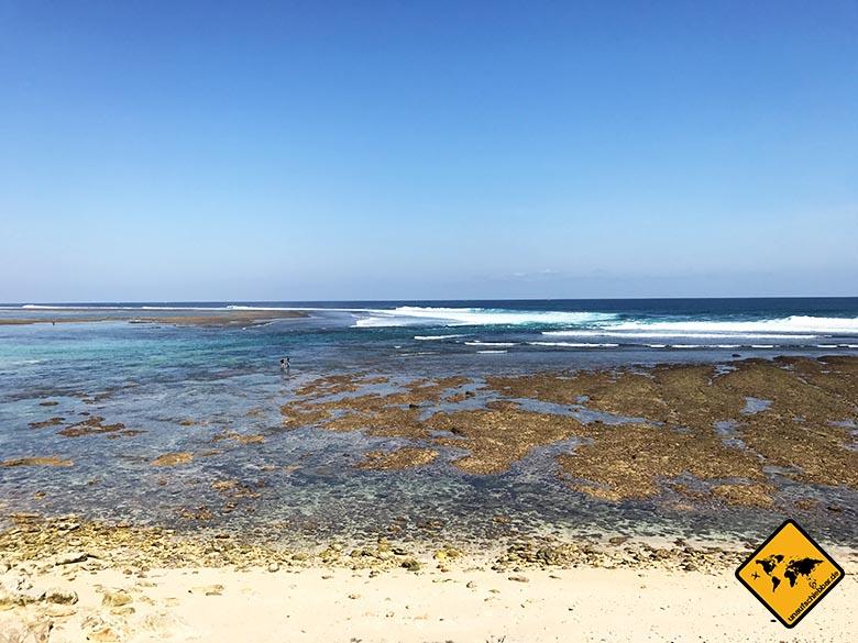 Green Bowl Beach Bali gute Wasserqualität