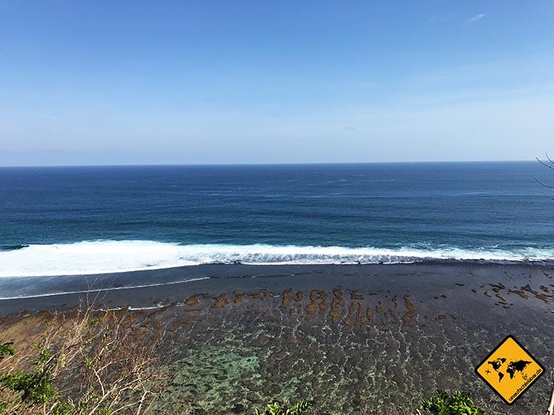 Green Bowl Beach Bali von oben
