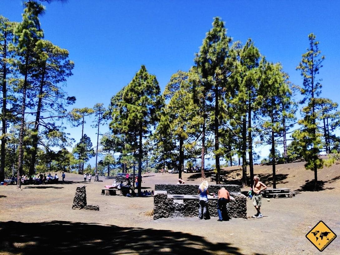 Grillplatz Camping auf Teneriffa