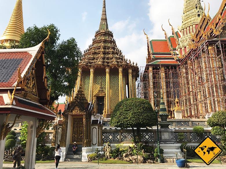 Großer Palast Bangkok Bauarbeiten