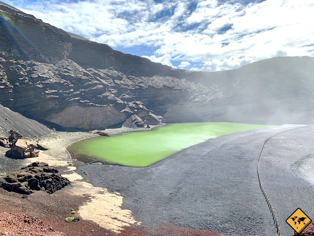 Grüne Lagune Lago Verde Lanzarote El Golfo