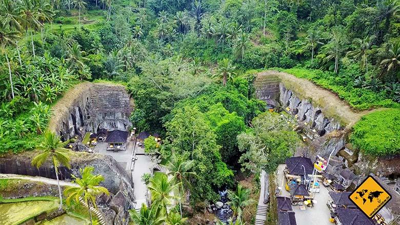 Gunung Kawi Königsgräber von oben