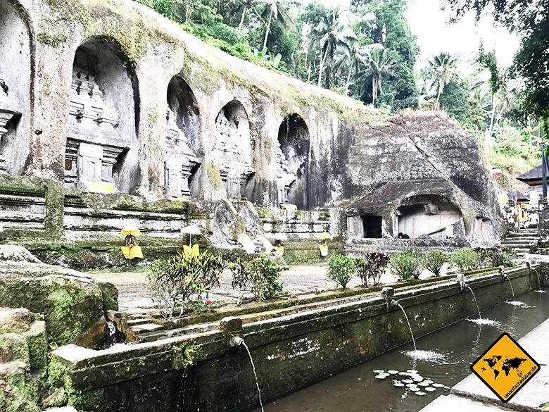 Gunung Kawi Köningsgräber Wasser Fontänen