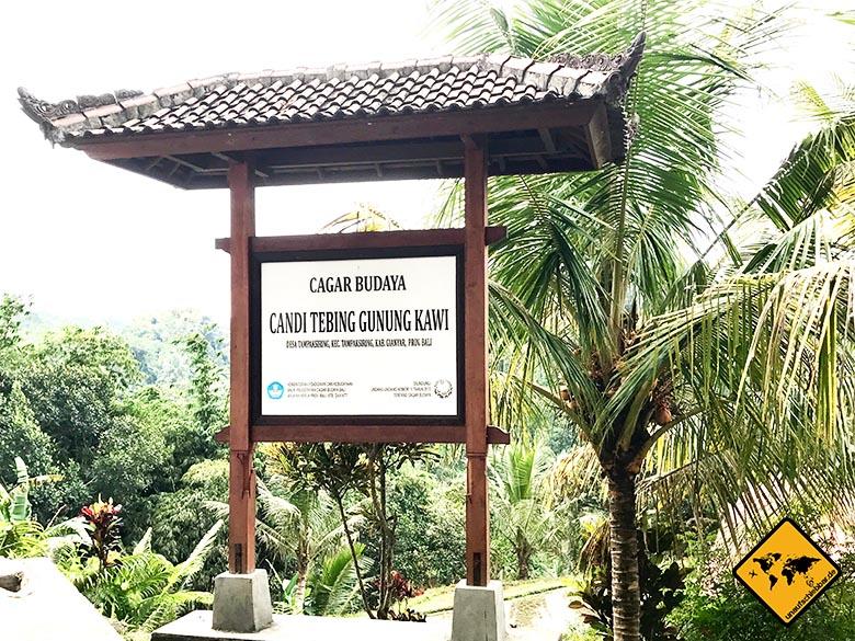 Gunung Kawi Tampaksiring Eingang