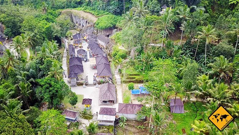 Gunung Kawi Temple Vogelperspektive