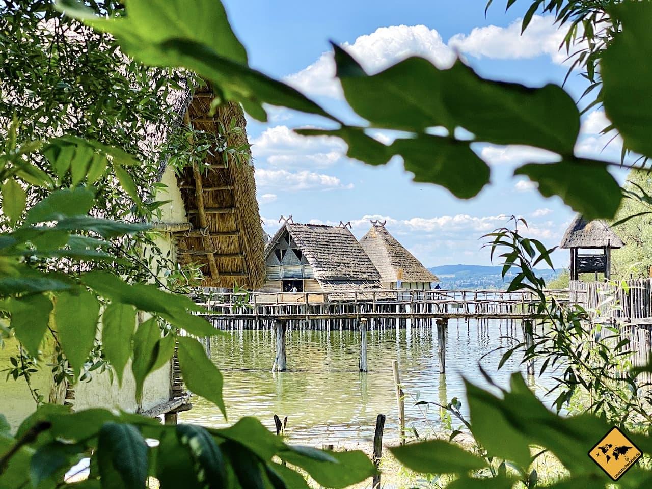 Häuser im Bodensee