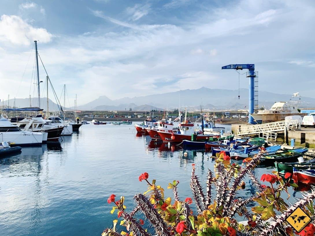 Hafen Las Galletas Teneriffa