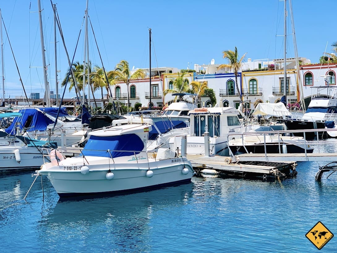 Hafen Mogán Gran Canaria Boote