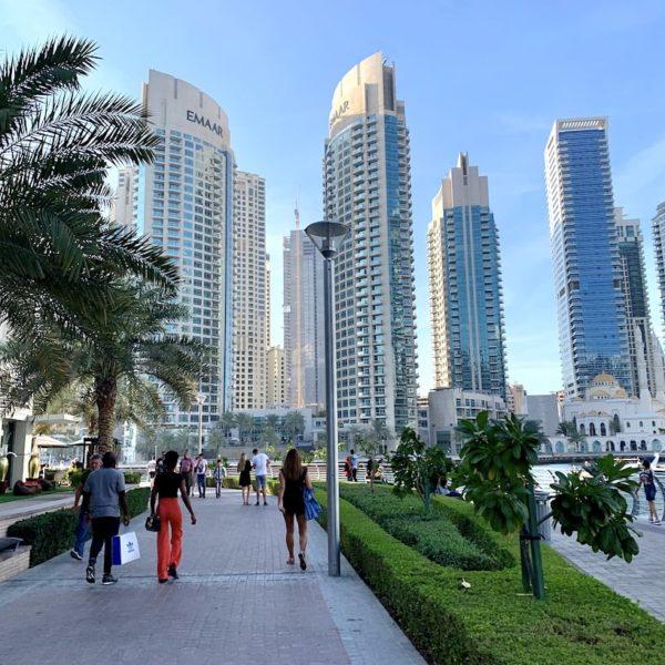 Hafenspaziergang Dubai Marina Promenade