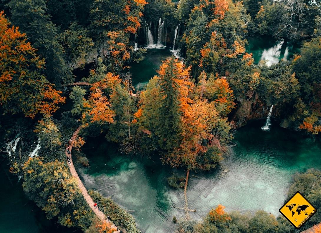 Herbst Plitvicer Seen