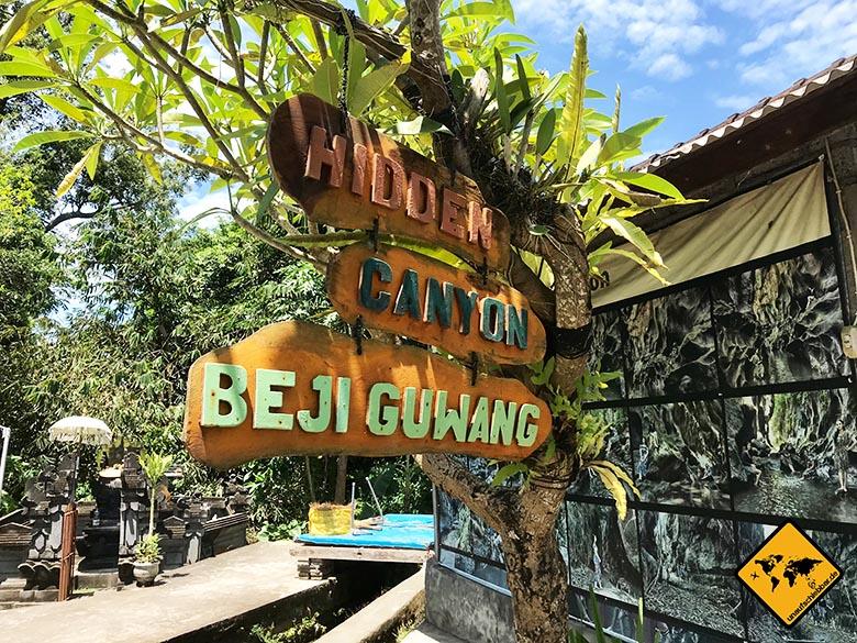 Hidden Canyon Beji Guwang Bali