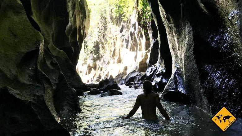 Hidden Canyon Beji Guwang Fluss Trekking