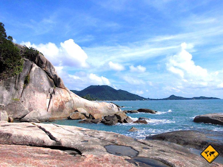 Hin Ta Hin Yai Felsen Lamai Beach Koh Samui