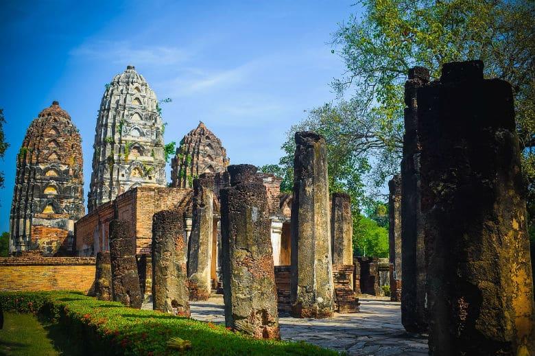 Historical Park Sukhothai Verwilderung
