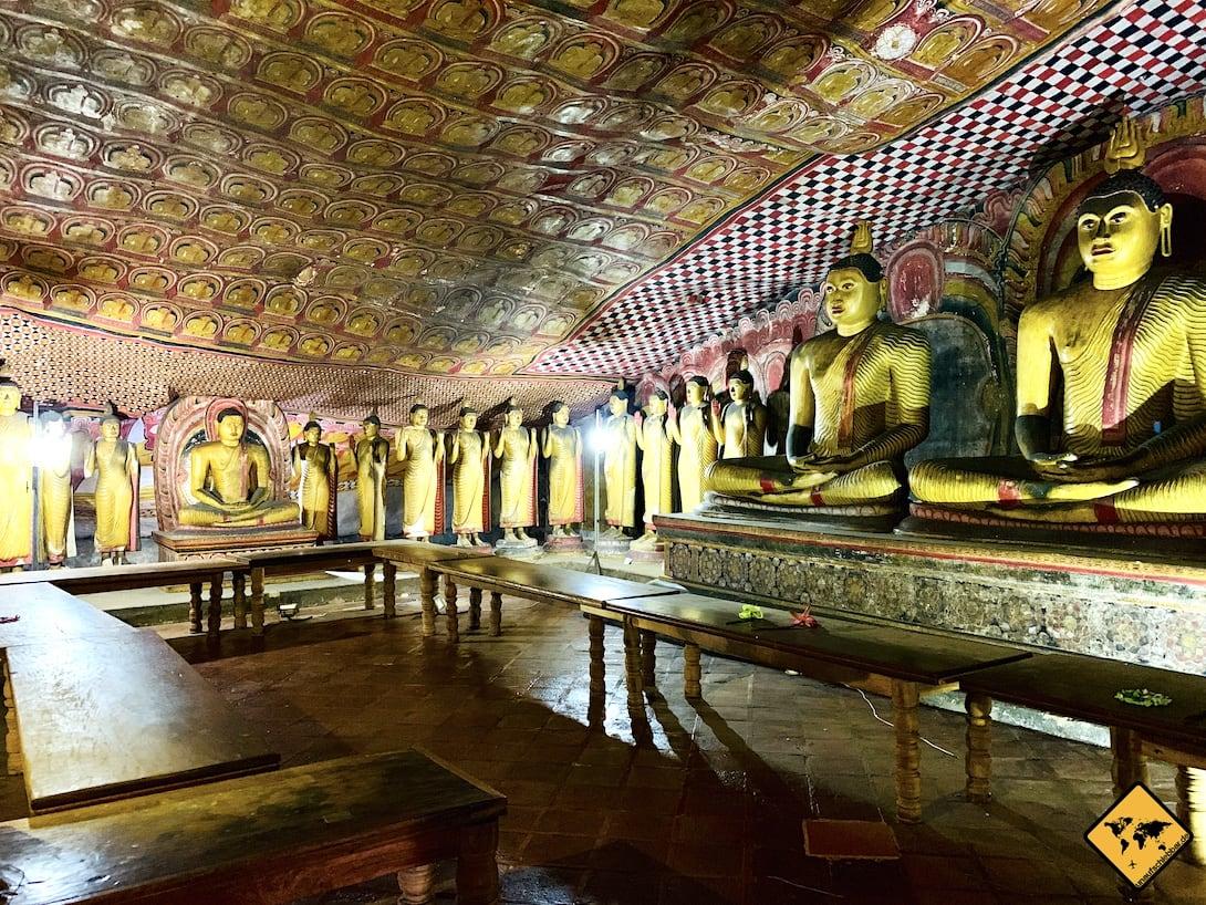 Höhle Buddha Figuren Damublla