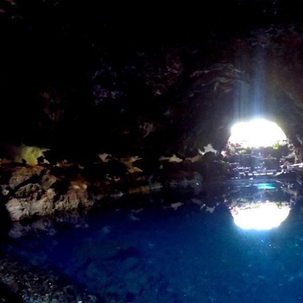 Höhle Lichtstrahl Jameos del Agua Lanzarote