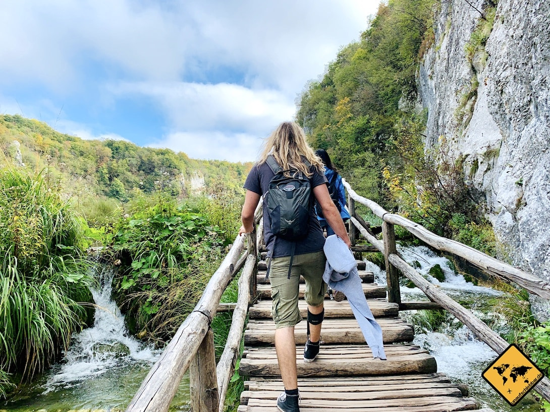 Holzsteg Stufen Plitvicer Seen